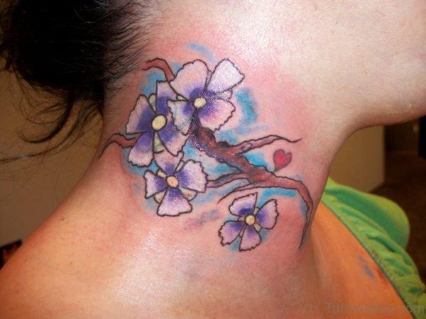 Marvelous Neck Tattoo For Women