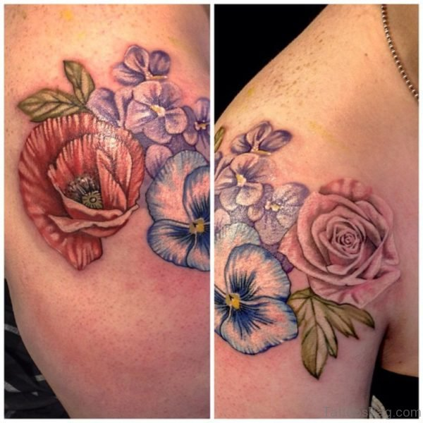 Marvelous Vintage Flower Tattoo Design