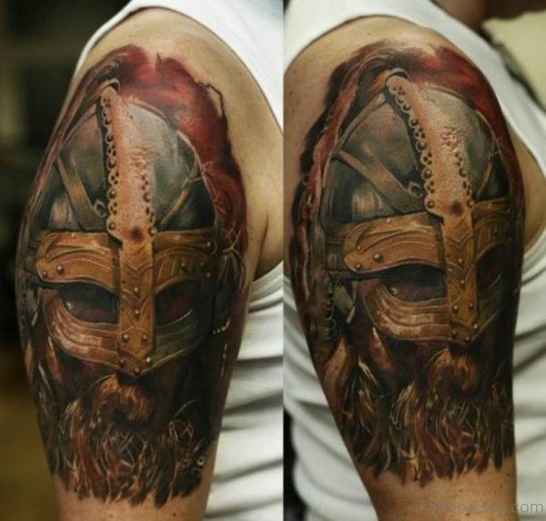 Mask Tribal Viking Tattoo
