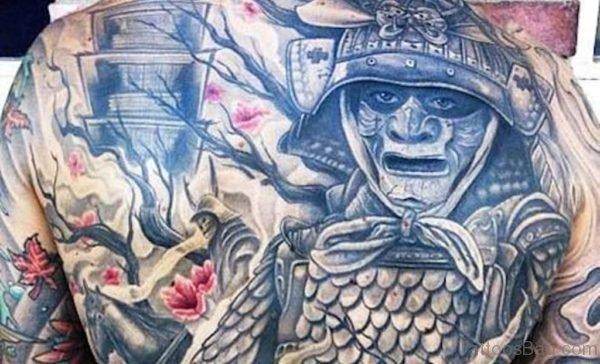 Masked Samurai Tattoo