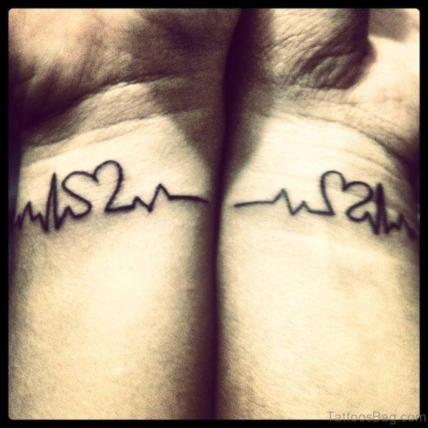 Matching Heartbeat Tattoo