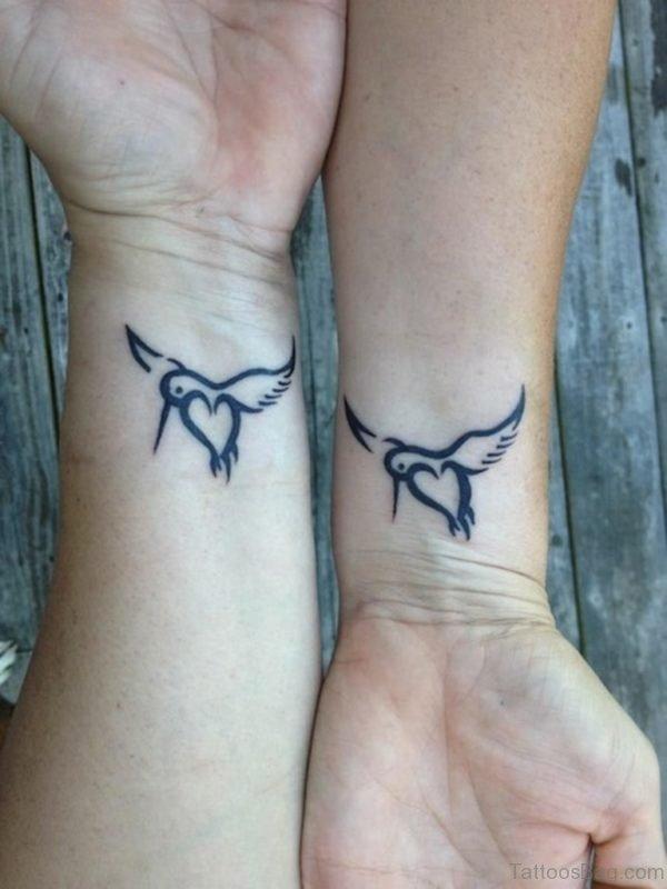 Matching Sisters Wrist Tattoo