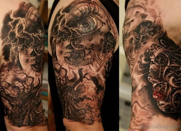 Mechanical Bicep Tattoo