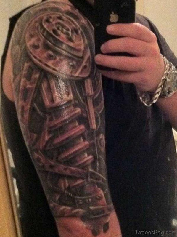 Mechanical Half Sleeve Tattoo