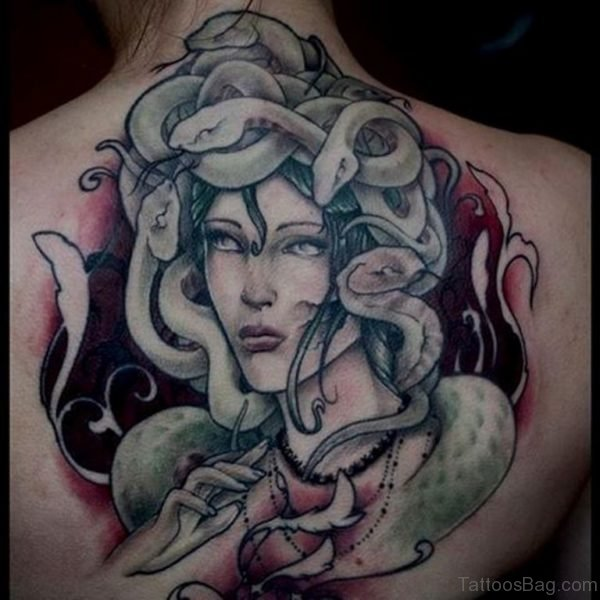 Medusa Back Tattoo Design