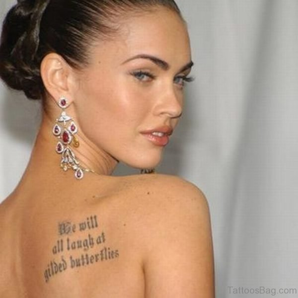 Megan Fox Quotes Tattoo