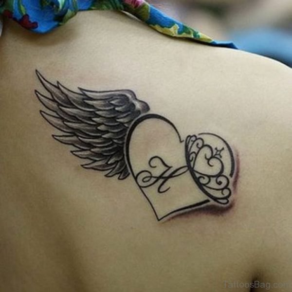Memorial Angel Heart Tattoo