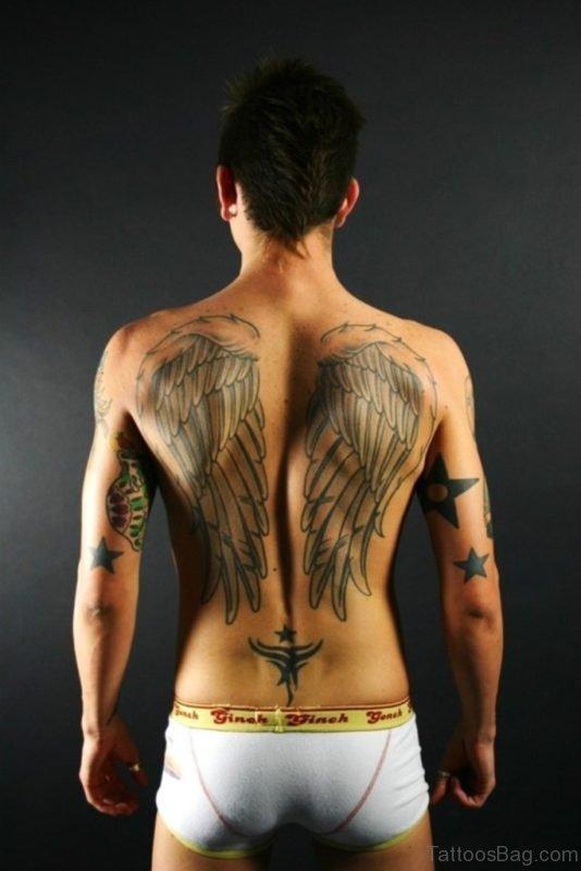 Memorial Angel Tattoo