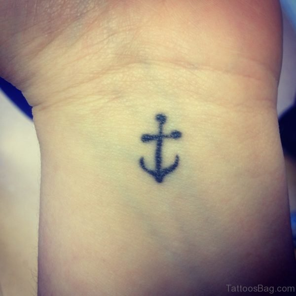 Men Anchor Small Tattoo