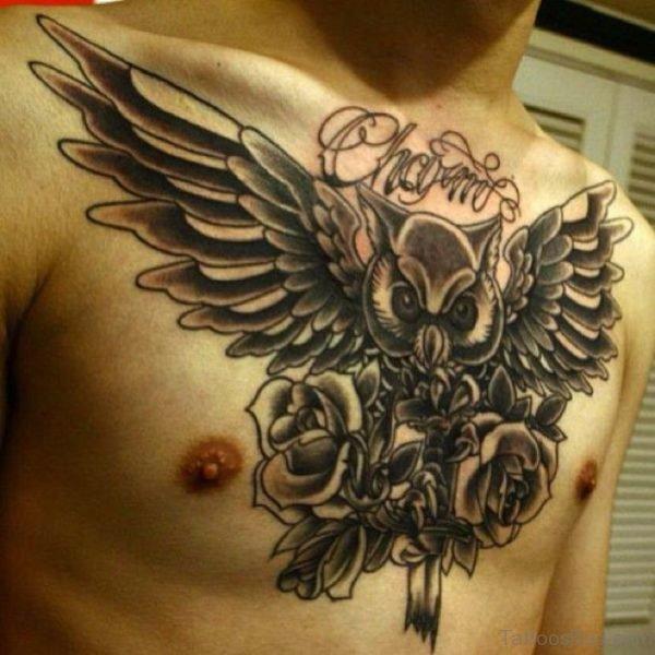 Men  Owl Tattoo