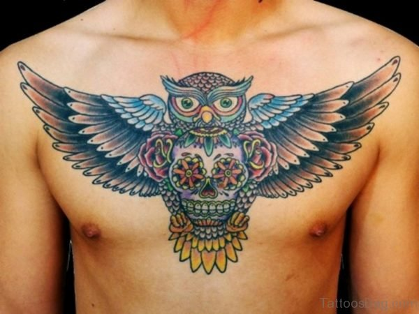 Mexican Owl Tattoo