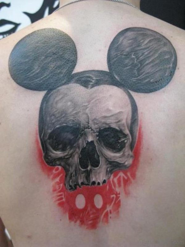 Mickey Skull Tattoo