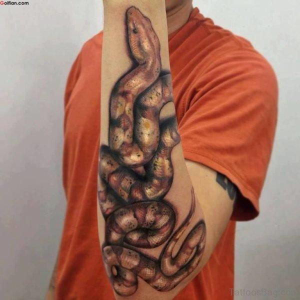 Mind Blowing Snake Tattoo