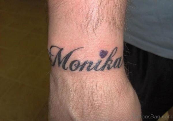 Monika Name Tattoo