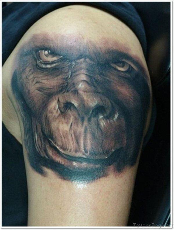 Monkey Face Tattoo