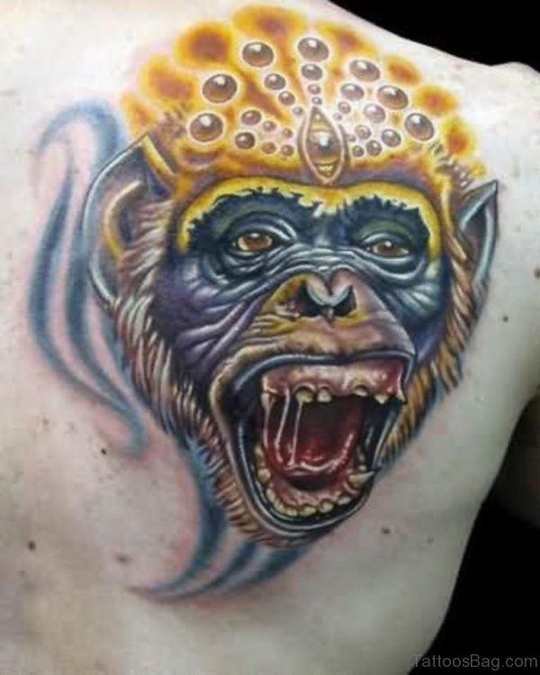 Monkey King Tattoo On Shoulder
