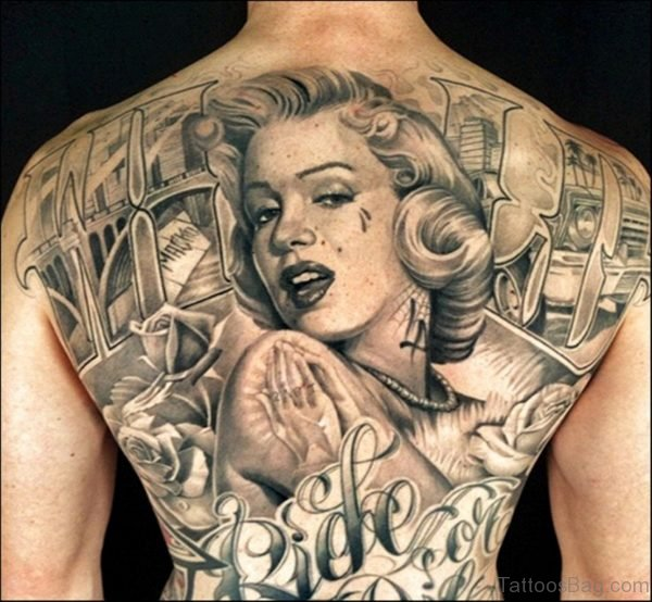 Monroe Backpiece Tattoo