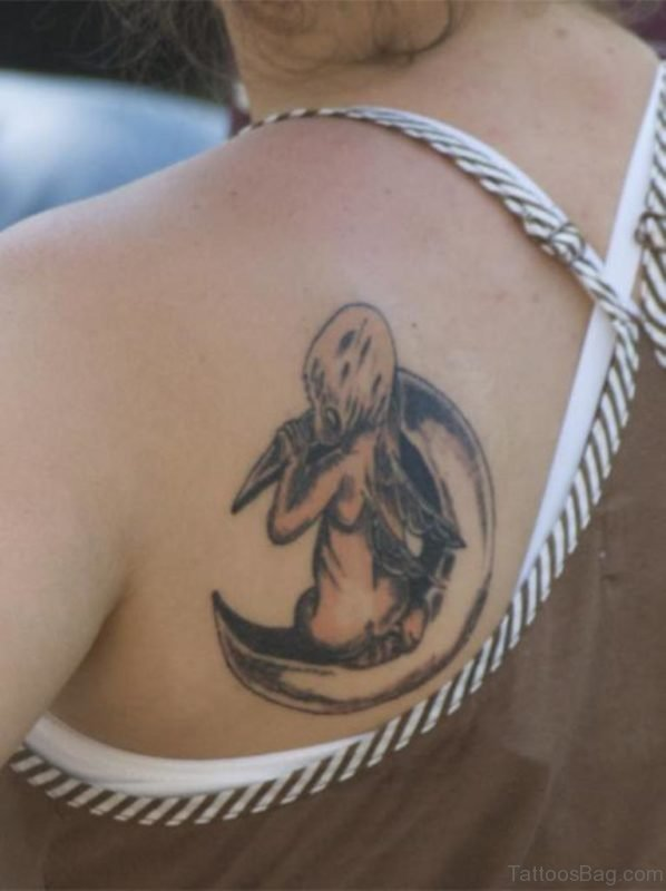 Moon Back Tattoo