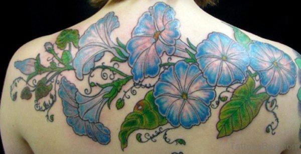 Morning Glory Tattoo Back