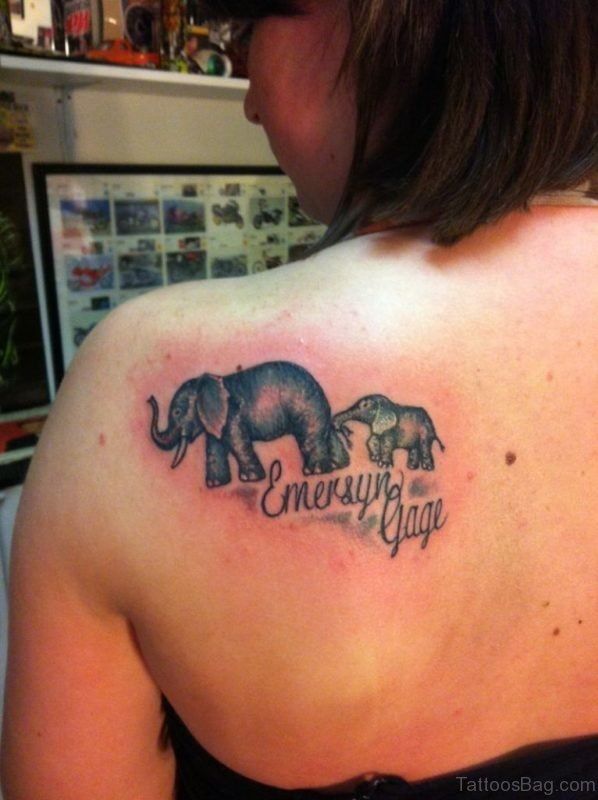 Mother With Child Elephant Tattoo