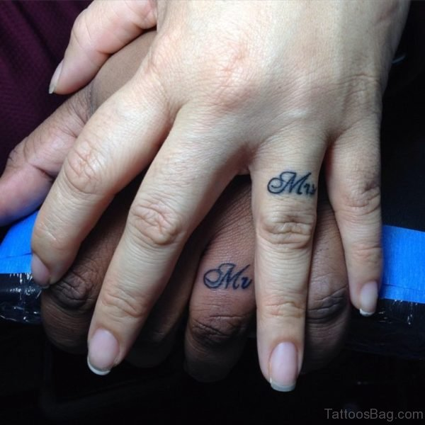 Mr And Mrs Word Tattoo