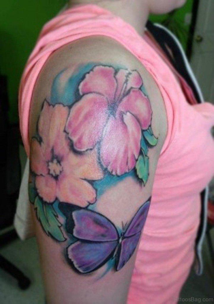 43 Hibiscus Shoulder Tattoo Designs