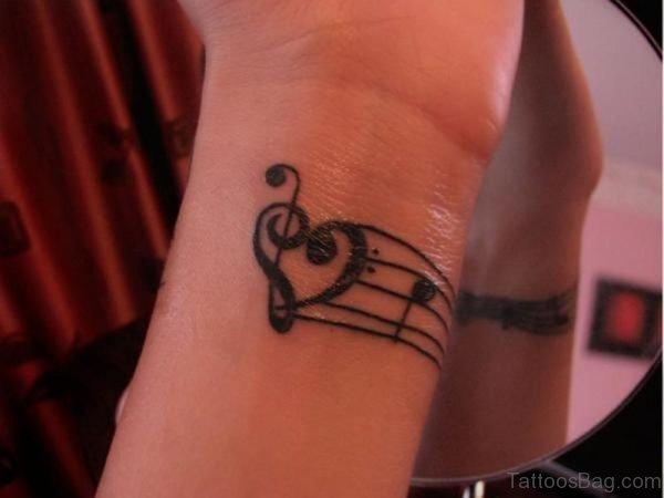Music And Heart Tattoo