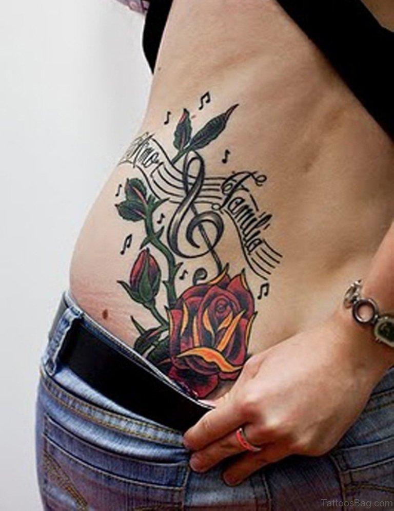 61 lovely rose tattoos for back for Rose tattoo song