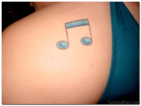 Music Note Tattoo On Back