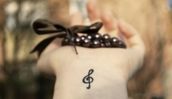 Music Note Tattoo On Wrist