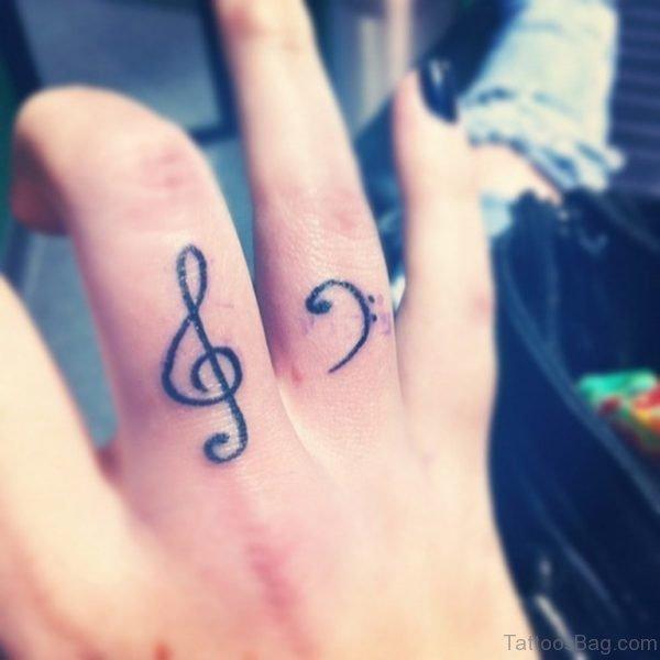 Music Notes Tattoo Design