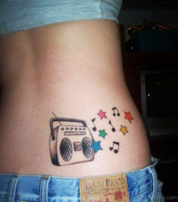 Music Player And Stars Tattoo