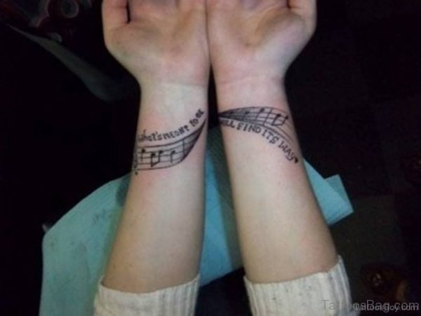 Music Symbols Tattoo On Wrist