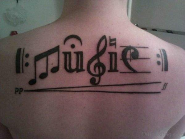 Music Tattoo Design On Back