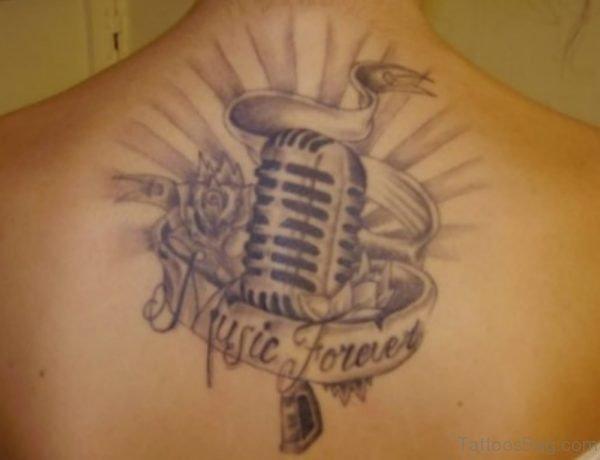 Microphone Back Tattoo