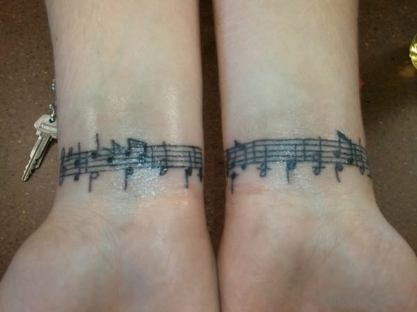 Cool Music Tattoo Design
