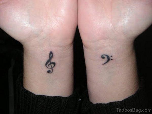 Music Tattoo On Both Wrists