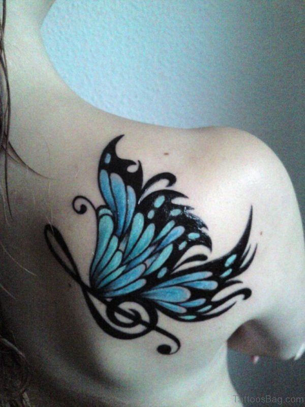 Musical Butterfly Tattoo