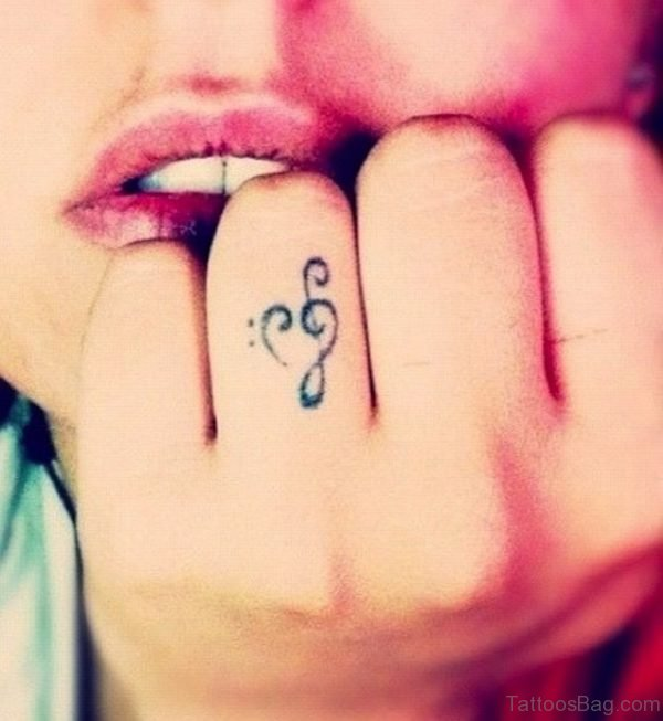 Musical Heart Tattoo