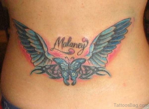 Name And Butterfly Tattoo