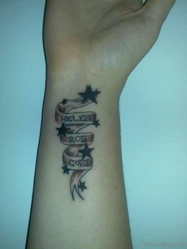 Name And Star Tattoo