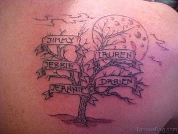Name And Tree Tattoo