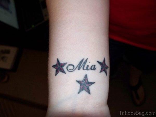 Name Mia And Star Tattoo