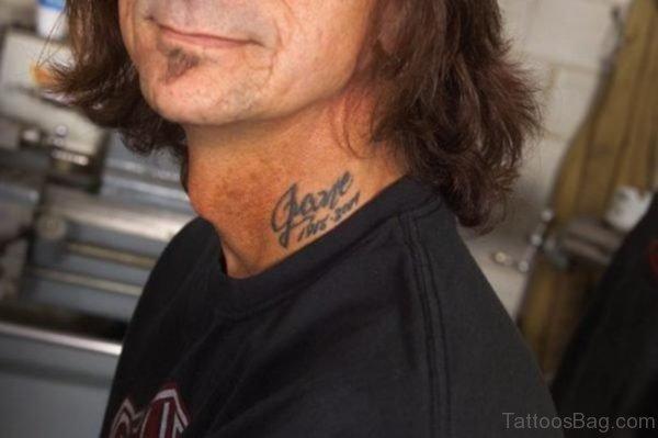 Name Neck Tattoos For Men