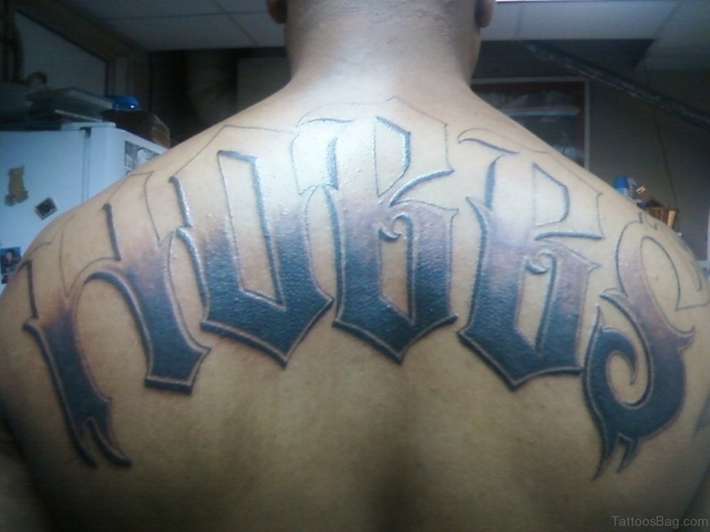 84 best name tattoos on back for My name in tattoo
