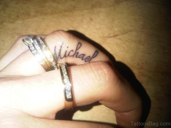 Name Tattoo On Finger