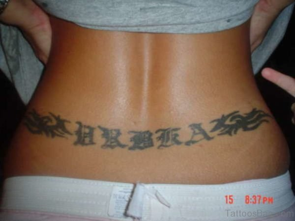 Name Tattoo On Lower Back