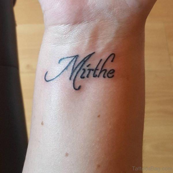 Name Wrist Tattoo