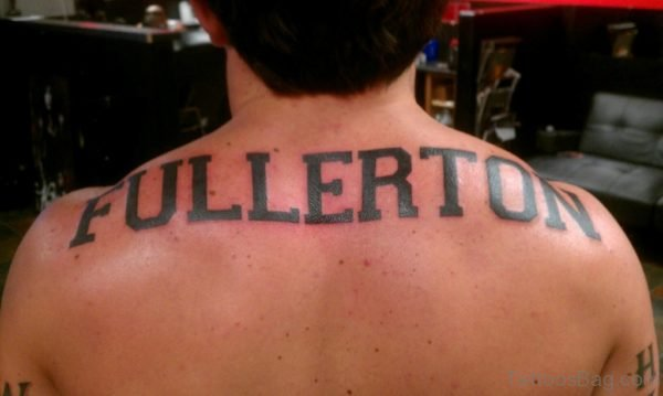 Naming Tattoo On Back