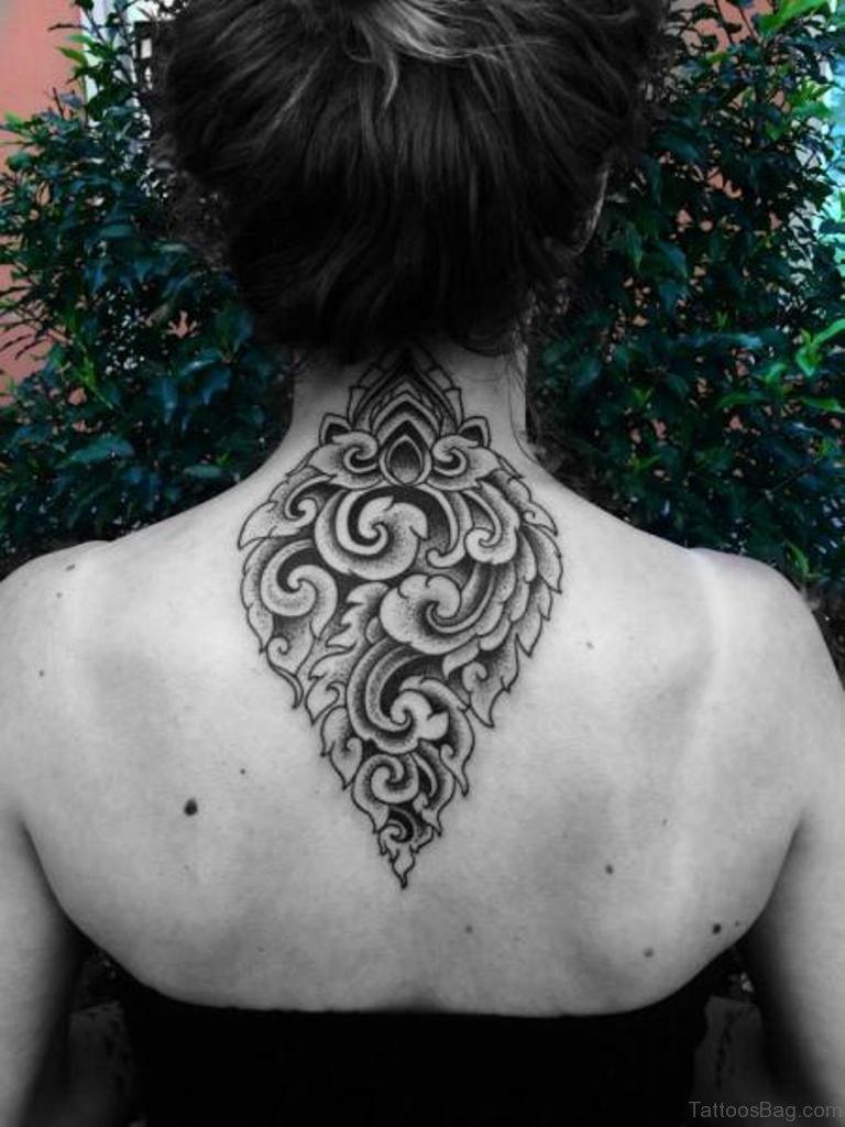33 super duper geometric tattoo on back